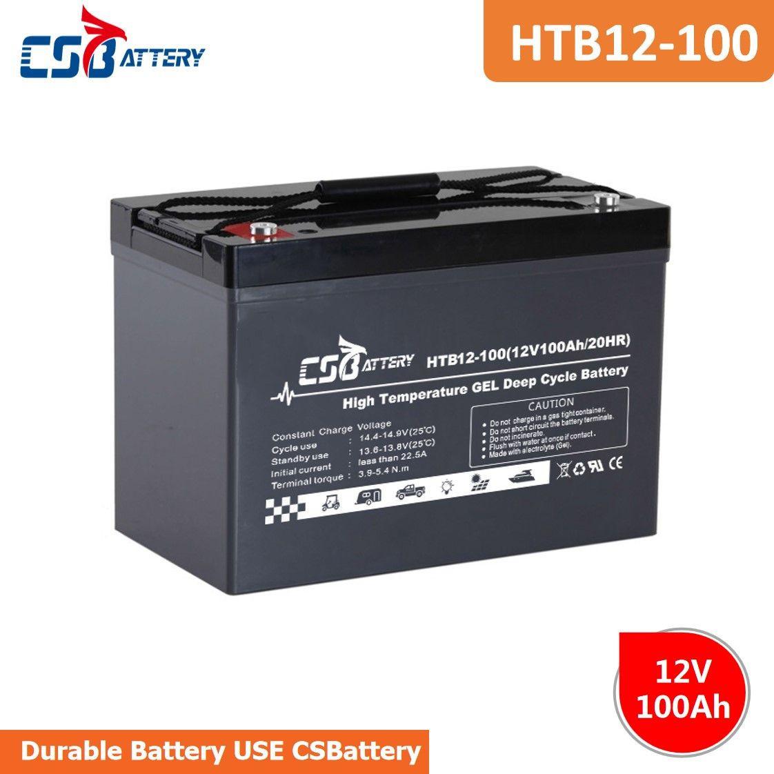 CSBattery 12V High-Temp Long Life GEL Deep Cycle Battery for Solar UPS HTB12-100
