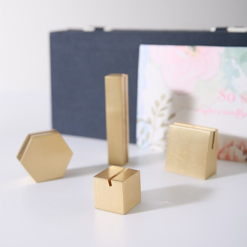 Brass Sign greeting card stand display