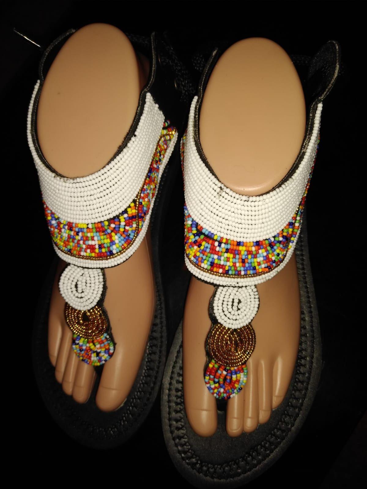 Beaded Maasai sandals