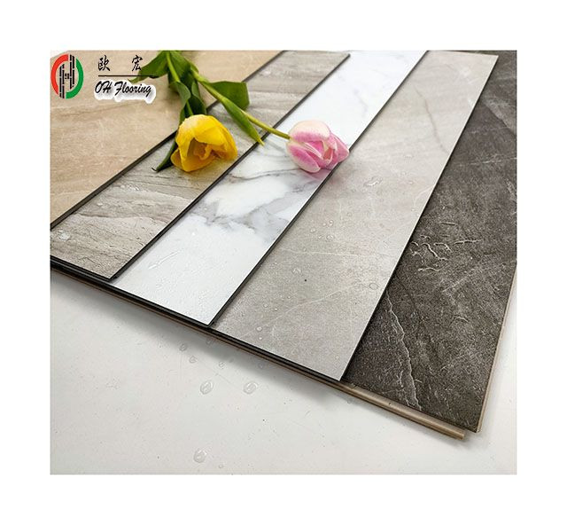 2020 NEW design high quality waterproof SPC flooring vinyl material for indoor