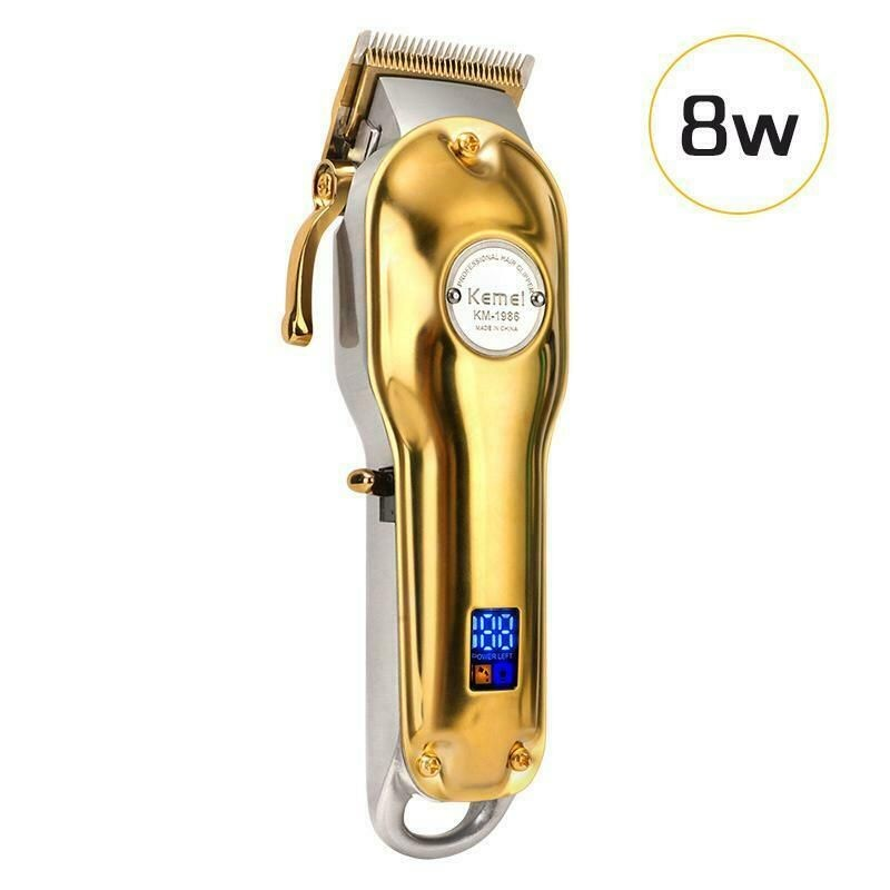 Kemei 1986 All-metal Professional Cordless Hair Clipper / Trimmer, Gold Color