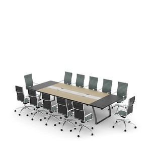 12 person conference table set