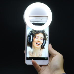2020 Mobile phone fill ring light LED Flash makeup live stream tiktok selfie clip ring light