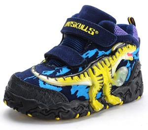 3D Dinosaurs kids boots cool winter shoes