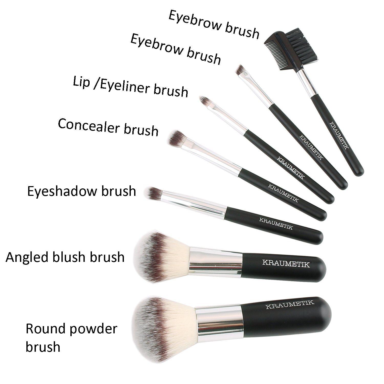 7 PCS Portable Makeup Brush Set with Black Cosmetic Bag, Hot Sale Travel Makeup Brushes