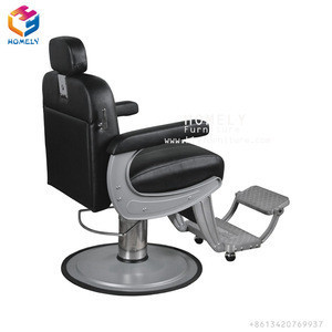 Adjustable Rotate Base Leather Upholstered Seat Modern Professional Cutting Hair Recliner Barber Chair Salon Hair Equipment