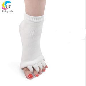 Amazon Hot Selling Toe Separator Massage Cotton Yoga Toe Sock