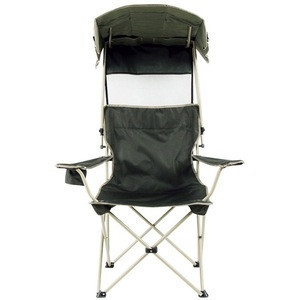 Best beach chair with canopy portable  Fishing Beach Lounge Chair With Sunshade Quik Shade Adjustable Canopy Folding Camp chair