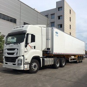 Best sale and good quality GIGA freezer truck with isuzu refrigerated truck japan for exporting
