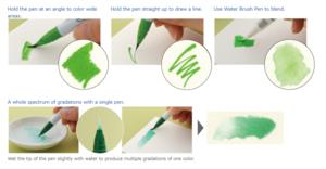 Blender ZIG Clean Color Real Brush pen Marker pen Flexible Brush Tips Watercolor Pens Painting Drawing Calligraphy Manga Anime