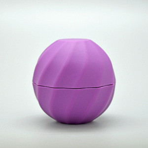 Custom design colorful ball shape fancy cute empty cosmetic packaging lip balm container