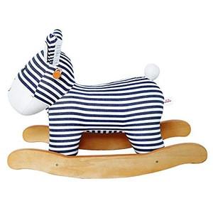 Cute Plush Animal Wooden Horse Rocking Child Rocking Horse Toy Stuffed Animal Rocker Toy