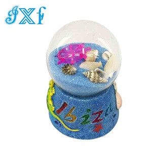 Factory Price Decorative Colorful Resin Sand Globe Souvenir