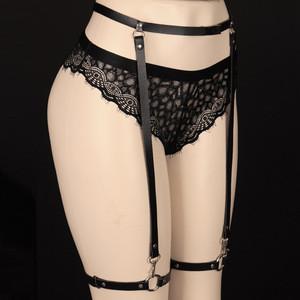 Female Women Sexy  Leather Harness Tight Suspender Punk Strap Leg Ring Garter Belts Bondage Belt