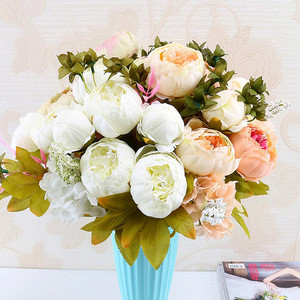 High Quality peony European style artificial  silk flowers wedding decoration home decoration accessories  Decorative+Flowers