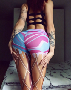 Hot sale Printing Shapewear Scrunch Butt Leggings for women