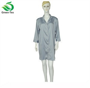 Matte Satin Pajamas Womens Nightshirts Sexy Sleep Shirt Nightgown