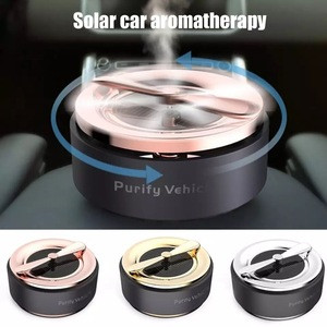 Mini Solar Aromatherapy Interior Car Air Freshener Solid Perfume 360 Degree Silent Purification Outlet Perfume Long-lasting