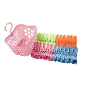 Promotion Plastic Clips Clothes Pegs With Baskets