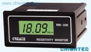Resistivity meter used for device testing for water quality