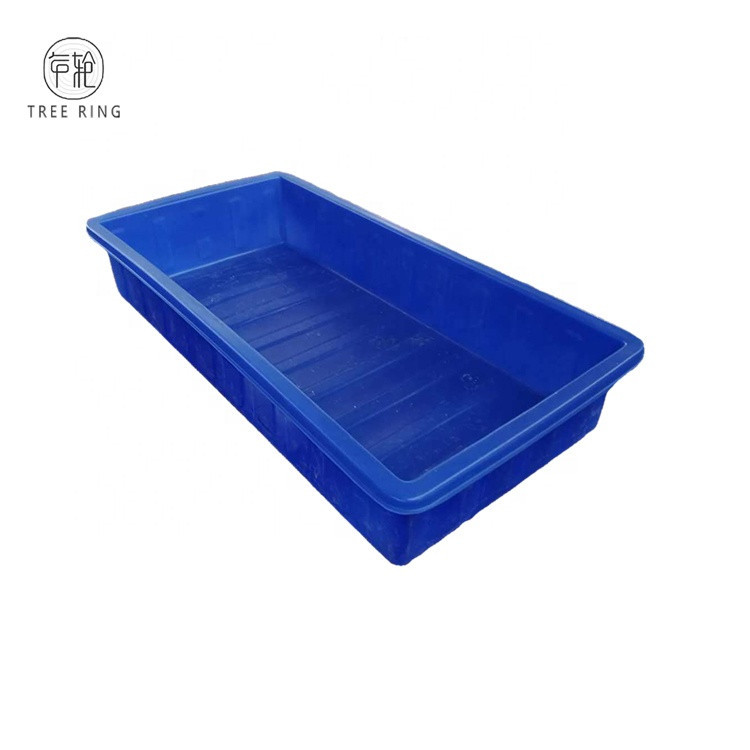 Roto-mold Open Top Outdoor Decking Rectangular Plastic Growing container With Outlet For Agricultural Greenhouse