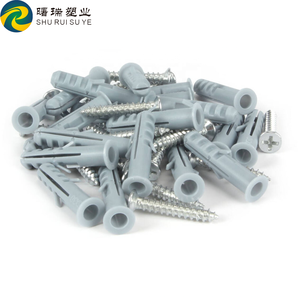 S14 plastic wall plug anchor with screw