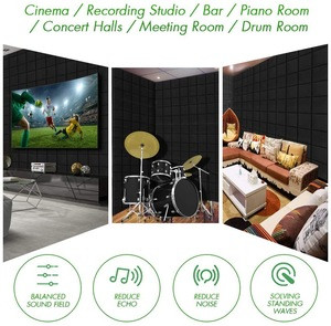 Self-adhesive Wall Panel Soundproof Sound Insulation Absorbing Studio Mushroom Acoustic Foam