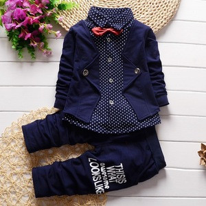 Spring Autumn Baby Boys Clothing Set Casual Kids Sport suit Infant Toddler Boys Clothes Top Coat + Pants Tracksuit Set