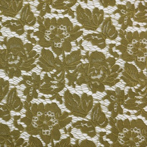 The 2020 new design France high-end nylon and cotton dark yellow lace fabric
