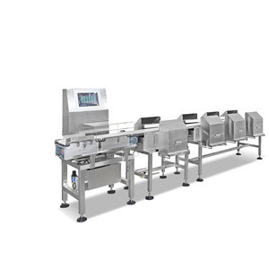Weight sorting machine for,poultry meat, vegetable, chicken