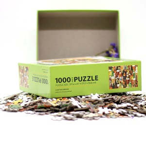 Wholesale Custom 1000 Pieces Paper Jigsaw Puzzle for Kids and Adult