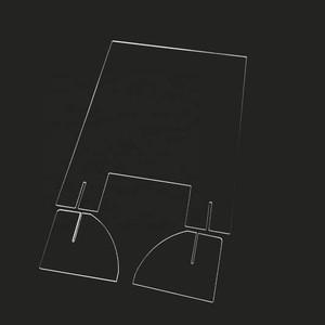 Wholesale Desktop Acrylic Sneeze Guard Acrylic Table Partition Protect Shield Board Barrier