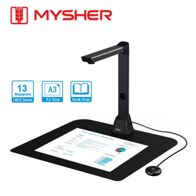 A3, 13MP Document Camera and Visualizer with OCR function