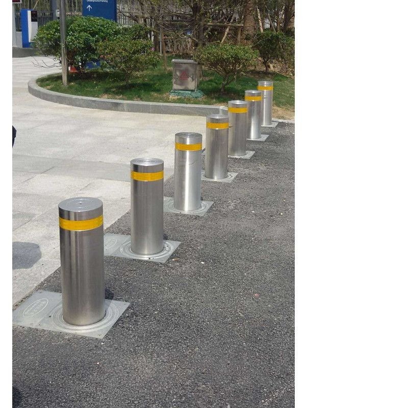 Automatic Stainless Steel Fixed Security Bollard Barrier