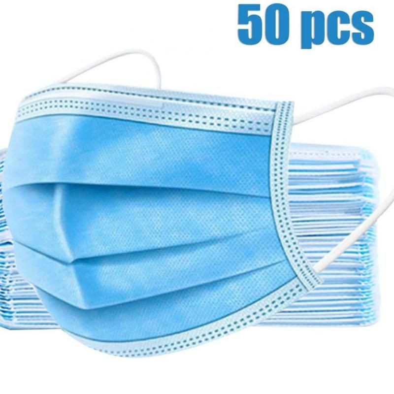 Disposable 3 Ply Face Masks 50 PCS/Box, Made in China, Adult Unisex