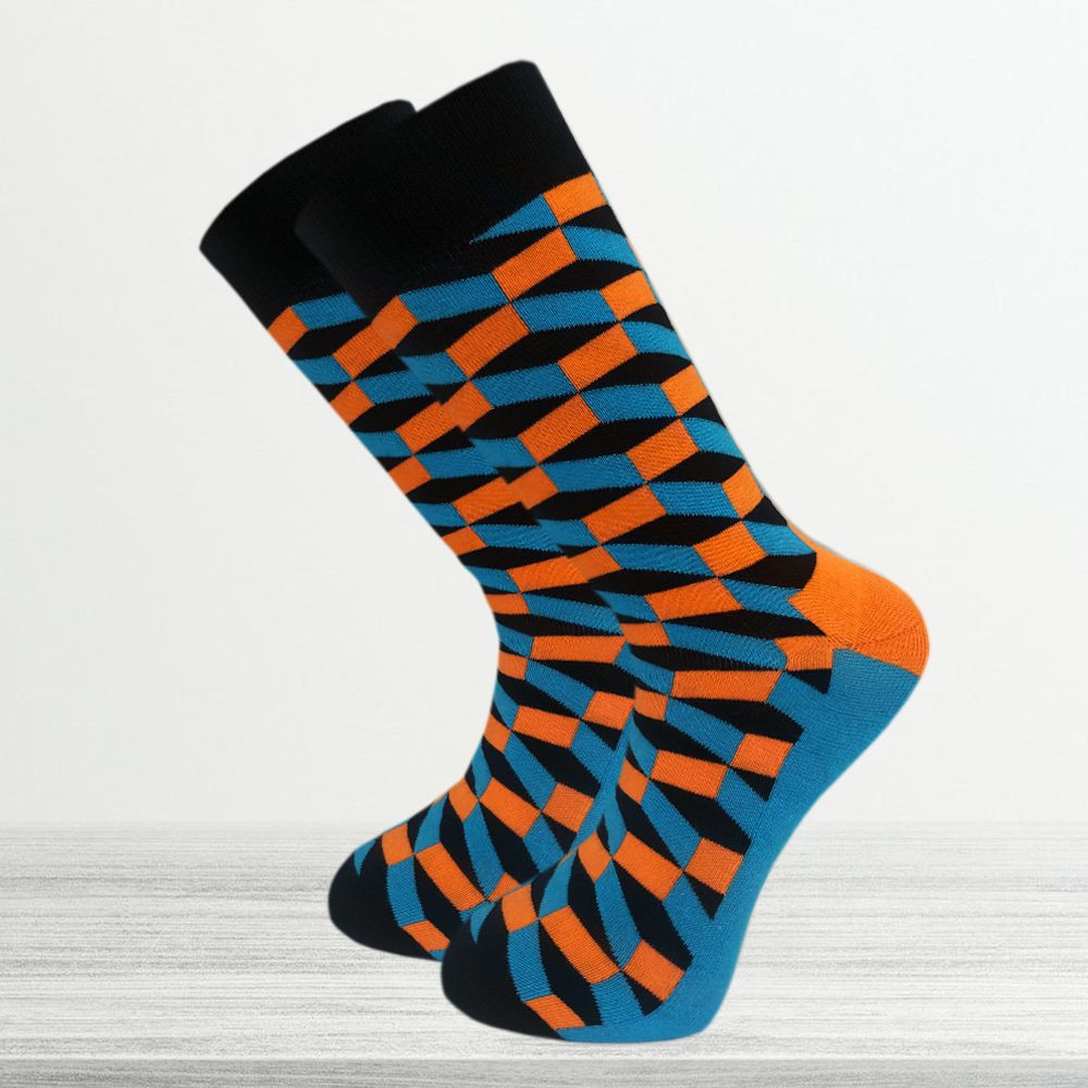 3D Pattern Men's Crew Socks
