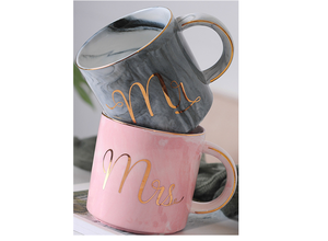 14 OZ Ceramic coffee marble mug Nordic style  porcelain milk cup can be customized marbling design  drinkware