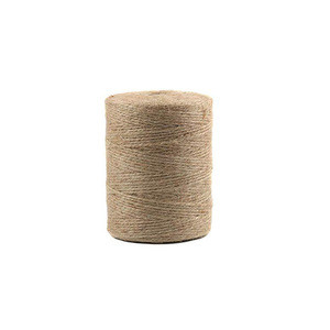 1.5mm 2 ply natural brown color twisted jute twine