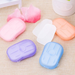 20pcs/box Mini Disposable Washing Hand Soap Paper Boxed Foaming Box skincare Travel Convenient Makeup Removal For Nails