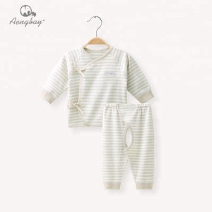 Aengbay Newborn Long Sleeve Baby Boys Clothing Custom Baby Girls Clothes Printing Blank Baby Set
