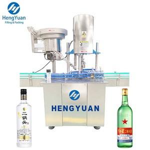 Automatic Star Wheel Clamping Bottle Mouth Single Head Liquor Bottle Ropp Aluminium Capping Machine
