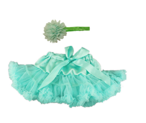 Baby tutu skirt princess skirt head flower bowknot ribbon photography props pompon skirt