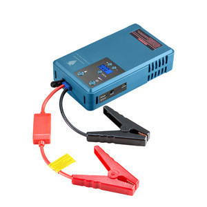 Car air pump 12v portable multi-function jump starter with digital tire inflator Battery capacity 10200MA  peak current 500A