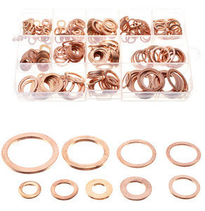 Car washer Box of 280 Motorcycle Bike Car Brake Line Bolt Copper Crush Washers Round copper flat washer