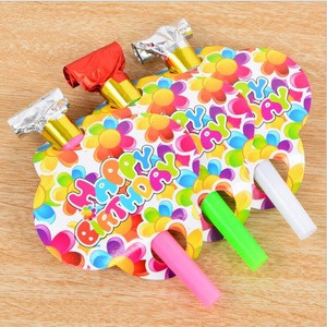 Cartoon Birthday Party Noise maker Blowout for Children Kids Toys Birthday Party Trumpets Supplies