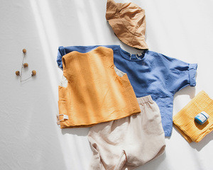 Custom children apparel 100% cotton baby boys vest waistcoat