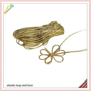 Elastic gift tied ribbon and bow for decoration and holiday