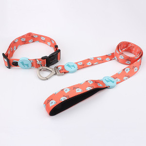 Factory direct polyester supreme dog collar and leash