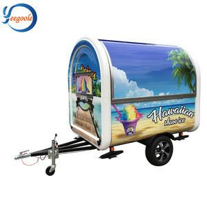 Fashionable mobile ice cream/ coffee/hamburger trailer YG-LC-01S for sale