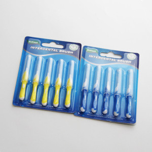 FDA approval OEM available I shape 5pcs pack interdental brush